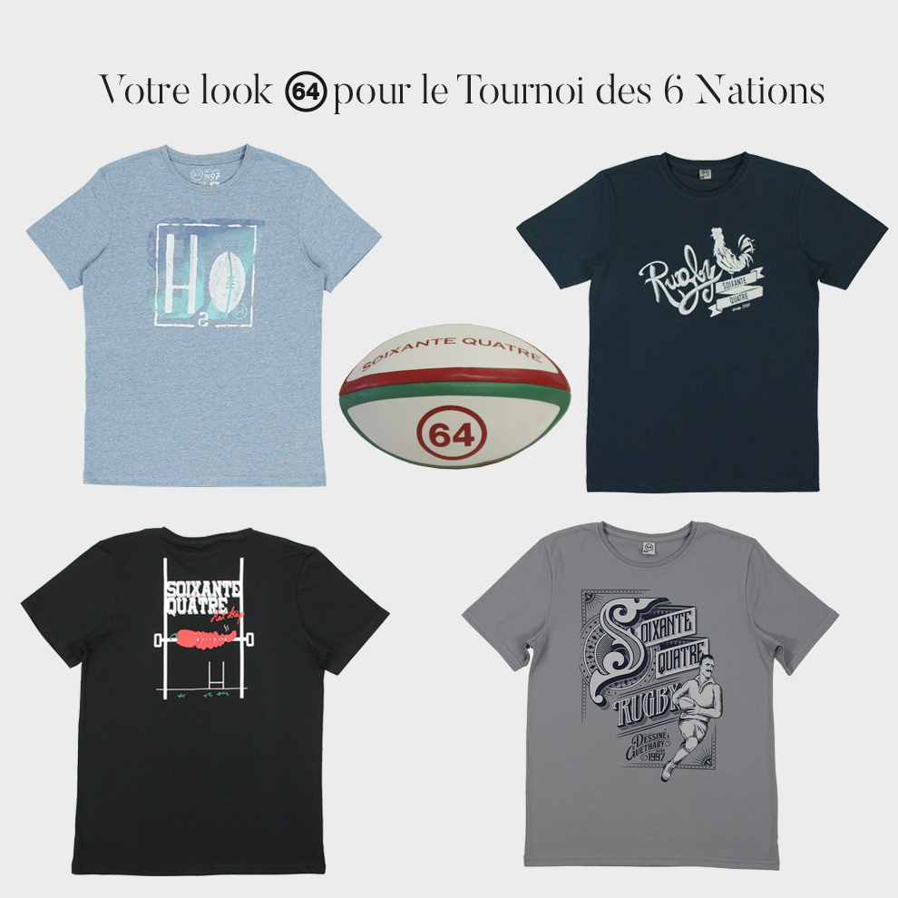 tee-shirt rugby 64