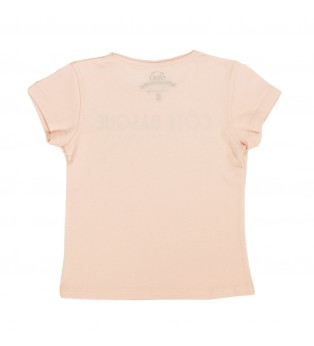 Tee-shirt fille TYPO BASQUE rose