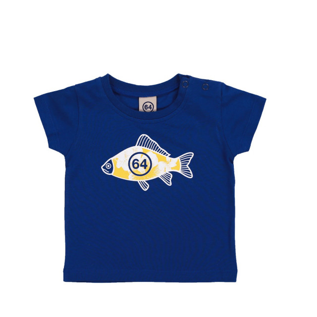 Tee-shirt bébé FISH FLOWER bleu