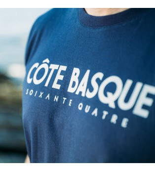 Tee-shirt homme TYPO BASQUE bleu