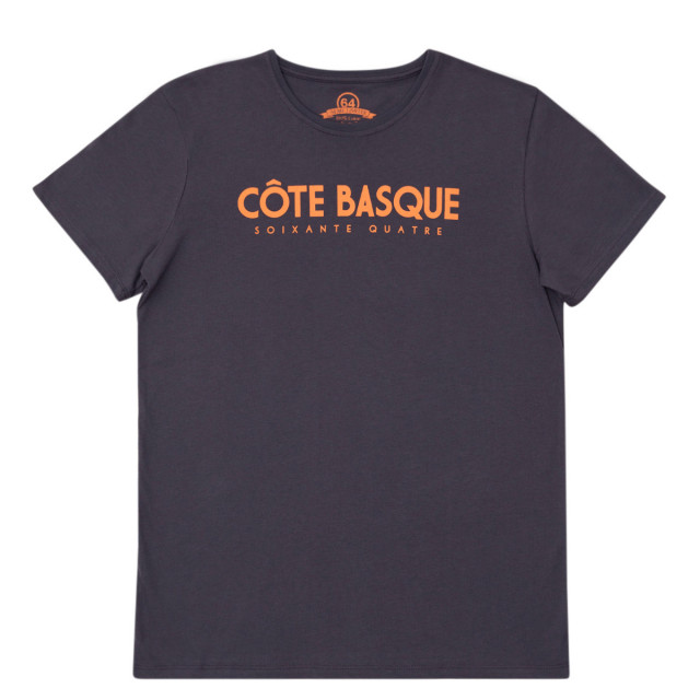 Tee-shirt homme TYPO BASQUE gris