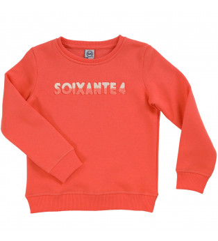 Sweat fille BICOLO BOUCLETTE orange