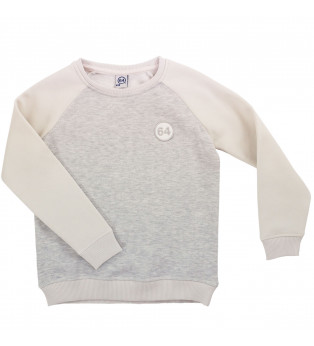 Sweat fille ESSENTIELS 64 LOGO écru