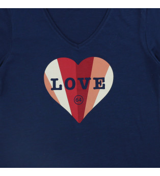 Tee-shirt femme LOVE COLORS