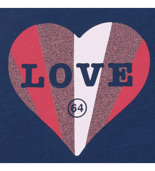 Tee-shirt fille LOVE COLORS
