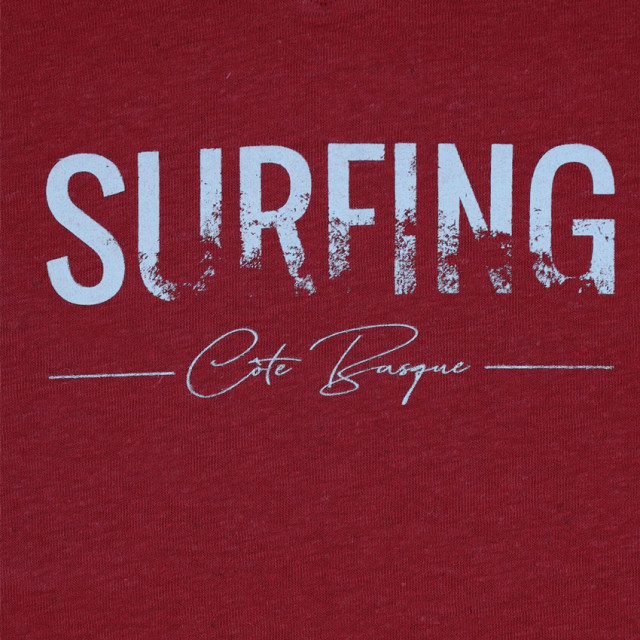 Tee-shirt femme SURFING COTE rouge