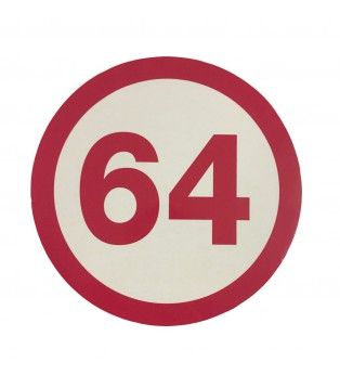 Sticker grand modèle 64 LOGO